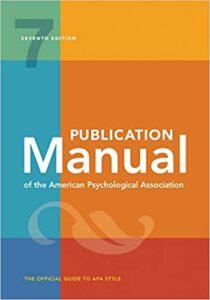 Manual de Publicaciones APA septima edición